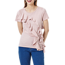 Buy Finery Chilcot Ruffle T-Shirt, Shell Pink Online at johnlewis.com