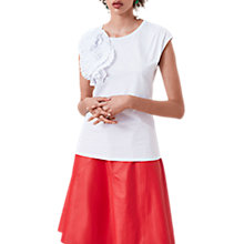 Buy Finery Cedars Corsage T-Shirt, White Online at johnlewis.com