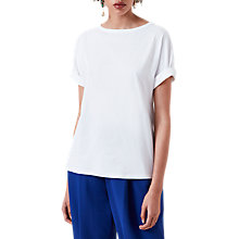 Buy Finery Beachall Roll Sleeve T-Shirt, White Online at johnlewis.com