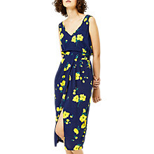 Buy Warehouse Delia Floral Dress, Blue Online at johnlewis.com