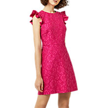 Buy Warehouse Frill Sleeve Lace Dress Online at johnlewis.com