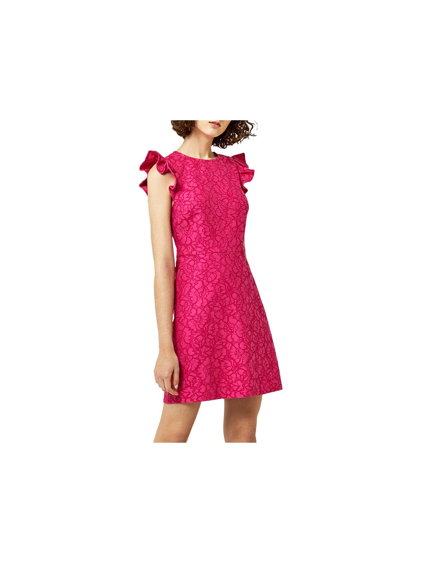 0a27809cbf6f Warehouse Frill Sleeve Lace Dress at John Lewis   Partners