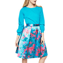 Buy Closet Full Circle Pleated Skirt, Turquoise/Fuchsia Online at johnlewis.com