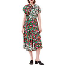Buy Finery Boleyn Mixed Floral Twisted Tea Dress, Multi Online at johnlewis.com
