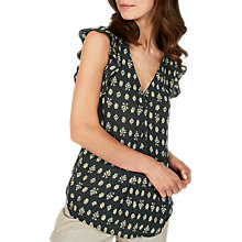 Buy Fat Face Jodie Rustic Aztec Blouse, Dark Grey/Limoncello Online at johnlewis.com