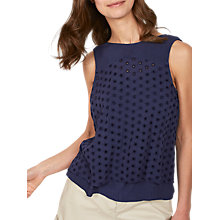 Buy Fat Face Laura Broderie 2 in 1 Top Online at johnlewis.com