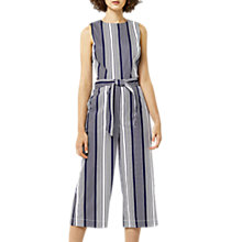 Buy Warehouse Stripe Jumpsuit, Blue Stripe Online at johnlewis.com