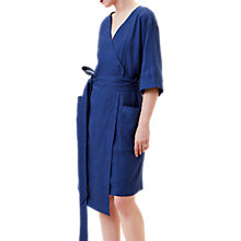 Buy Finery Hartington Linen Wrap Dress, Blue Online at johnlewis.com