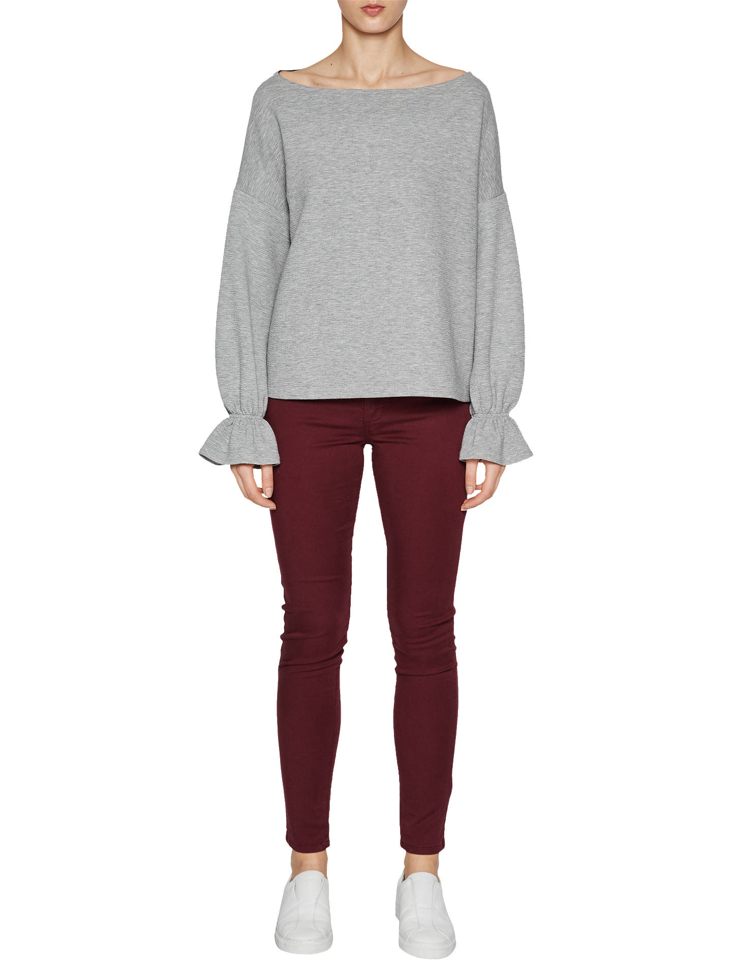 44e0d0ab270 Buy French Connection Ellen Textured Jumper, Grey, XS Online at johnlewis.com  ...
