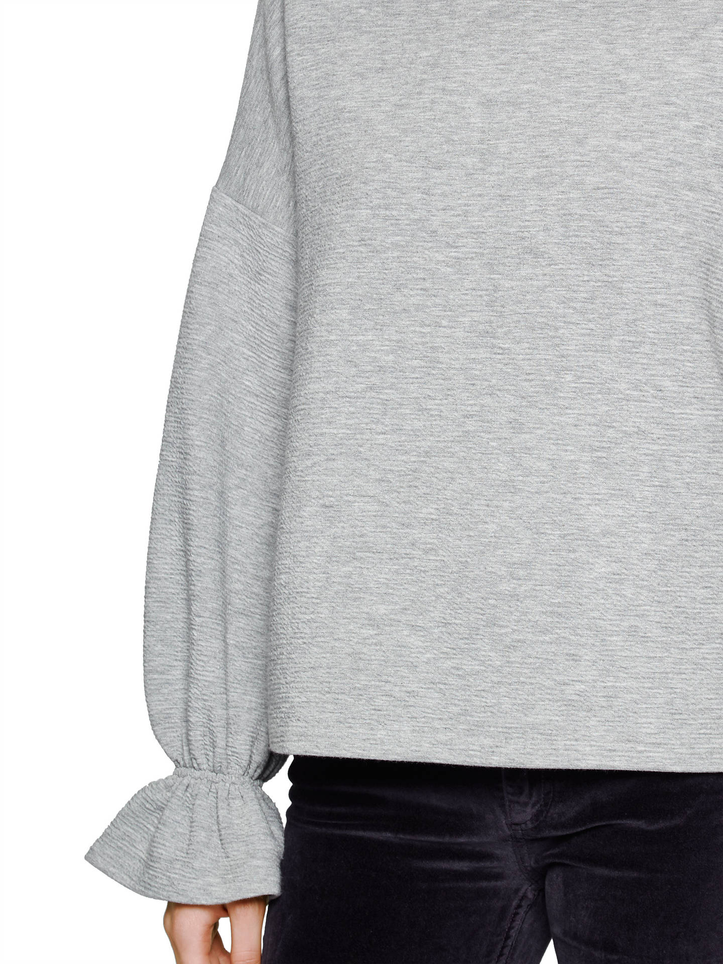 51be31da631 ... Buy French Connection Ellen Textured Jumper, Grey, XS Online at  johnlewis.com ...