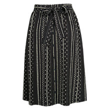 Buy Fat Face Mina Sketch Stripe Skirt, Phantom Online at johnlewis.com