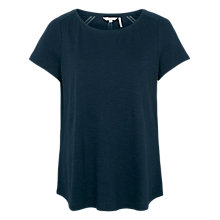 Buy Fat Face Pretty Trim T-shirt, Navy Online at johnlewis.com