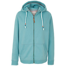 Buy Fat Face Club Zip Through Hoodie, Teal Blue Online at johnlewis.com