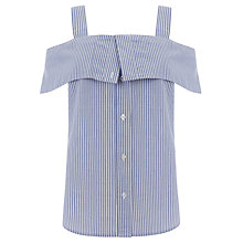 Buy Warehouse Button Through Stripe Cami, Blue Online at johnlewis.com