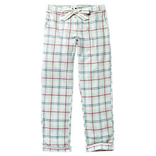 Buy Fat Face Check Classic Pyjama Bottoms, Peppermint Online at johnlewis.com