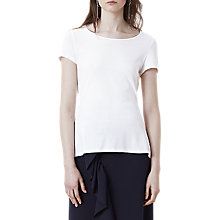 Buy Finery Charlotte Bow T-Shirt, White Online at johnlewis.com