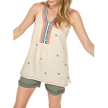 Buy Fat Face Patti Embroidered Cami, Stone Online at johnlewis.com
