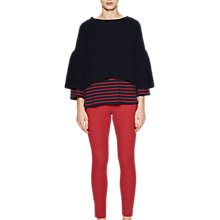 Buy French Connection Ellie Waffle Knit Jumper, Utility Blue Online at johnlewis.com