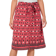 Buy Fat Face Mina Rustic Aztec Skirt, Crimson Online at johnlewis.com