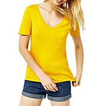 Buy Warehouse V-Neck Smart T-Shirt, Mustard Online at johnlewis.com