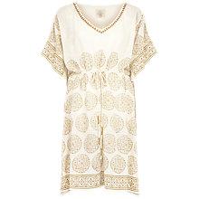 Buy Fat Face Sandown Kaftan, Ivory Online at johnlewis.com