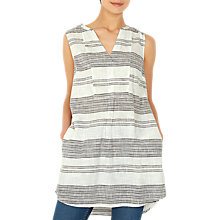 Buy Fat Face Elsa Stripe Longline Shirt, Ivory Online at johnlewis.com