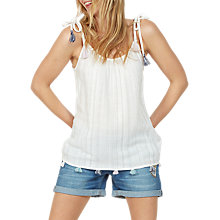 Buy Fat Face Winnie Tassel Cami, Ivory Online at johnlewis.com