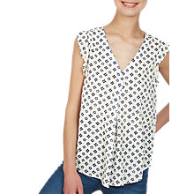 Buy Fat Face Jodie Flora Tile Blouse, Ivory Online at johnlewis.com