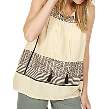 Buy Fat Face Lottie Jacquard Camisole, Stone Online at johnlewis.com