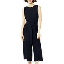 Buy Warehouse Open Back Culotte Jumpsuit, Navy Online at johnlewis.com