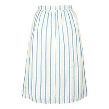 Buy Fat Face Nora Stripe Skirt, Ivory Online at johnlewis.com