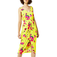 Buy Warehouse Delia Flowers Dress, Yellow Online at johnlewis.com