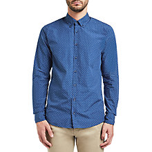 Buy BOSS Orange Epreppy Slim Fit Triangle Print Oxford Shirt, Dark Blue Online at johnlewis.com