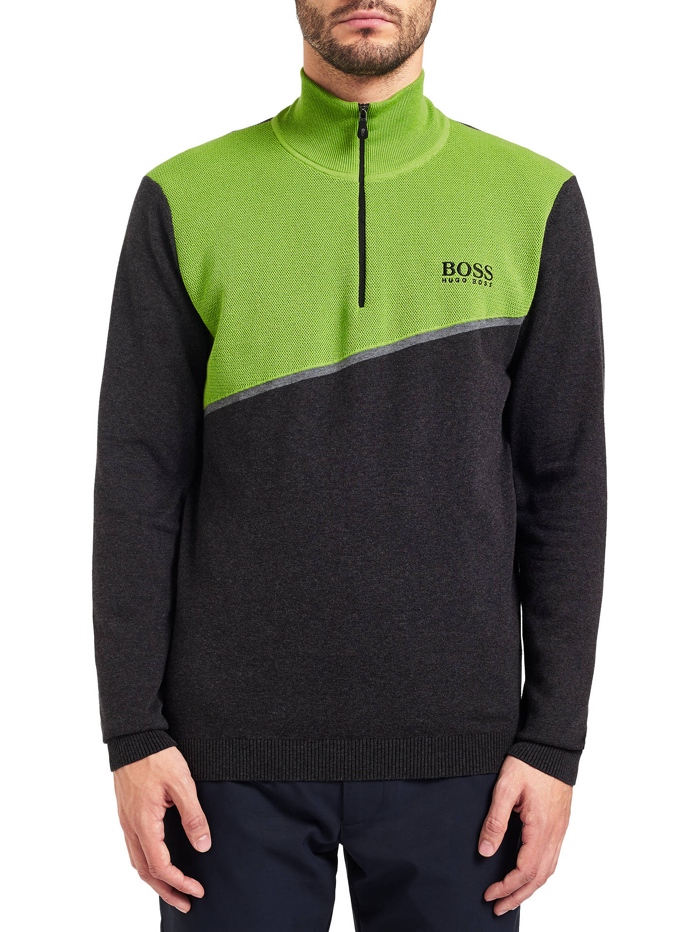 194622f9b0 Buy BOSS Green Zymor Pro Jumper, Charcoal, S Online at johnlewis.com ...