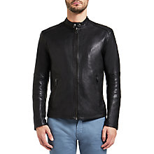 Buy BOSS Orange by HUGO BOSS Jeeper Biker Jacket, Black Online at johnlewis.com