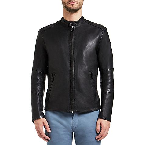 hugo boss orange leather jacket male models picture. Black Bedroom Furniture Sets. Home Design Ideas