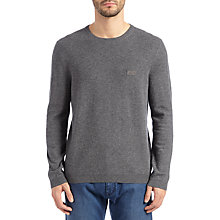 Buy BOSS Green C-Cecil Jumper, Light Pastel Grey Online at johnlewis.com