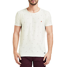 Buy BOSS Orange Toasty Match Pattern T-Shirt, Nautral Online at johnlewis.com