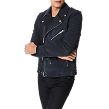 Buy Selected Homme Nico Suede Leather Jacket, Vulcan Online at johnlewis.com