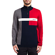 Buy BOSS Green Zelchor Pro Fleece, Navy Online at johnlewis.com