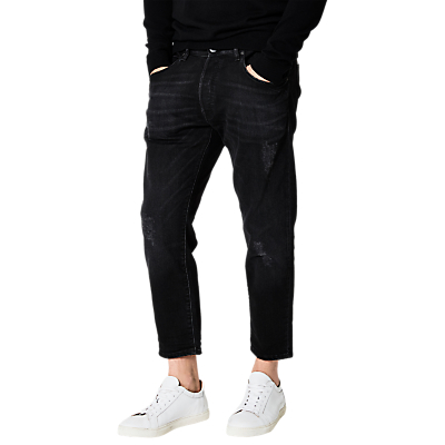 Selected Homme Select Cropped Jeans, Black