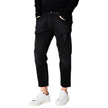 Buy Selected Homme Select Cropped Jeans, Black Online at johnlewis.com