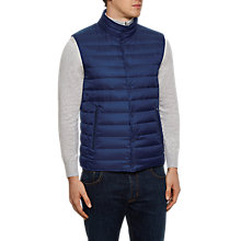 Buy Hackett London Reversible Down Gilet, Navy/Cobalt Online at johnlewis.com