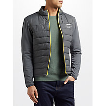 Buy Hackett London Aston Martin Racing Quilted Jacket, Steel Grey Online at johnlewis.com