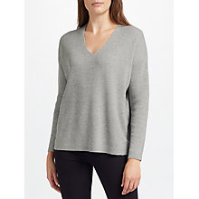 Buy John Lewis Rib Stitch V Neck Jumper Online at johnlewis.com