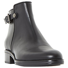Buy Dune Polley Block Heeled Chelsea Boots, Black Online at johnlewis.com