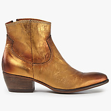 Buy AND/OR Oro Western Ankle Boots, Gold Online at johnlewis.com