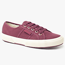 Buy Superga Corbinu Lace Up Plimsolls, Bordeaux Online at johnlewis.com
