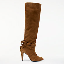 Buy AND/OR Sancia Knee High Slouch Boots, Tan Online at johnlewis.com