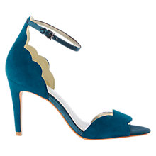 Buy Karen Millen Scallop Edge Stiletto Sandals, Teal Online at johnlewis.com